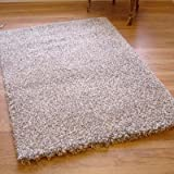 Twilight 39001-6699 Thick Luxurious Shaggy Rug Ivory & Silver Mix