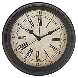 HITO Silent Non-ticking Wall Desk Clock w/ Alarm AND Table Stand- 6 inches (NO2)