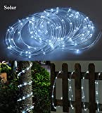 Solar Rope Tube 100 LED Starry String Garden Light 17 feet long total length (Pure white), waterproof for Outdoor, Patio, Gardens, Homes, Christmas, Party,etc