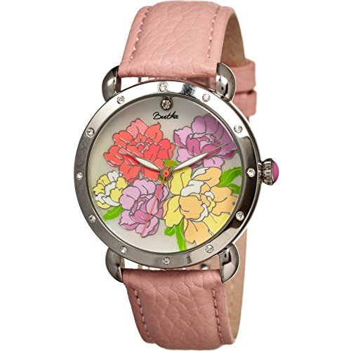 Bertha Women's BR3601 Angela Light Pink/Multicolor Leather Watch