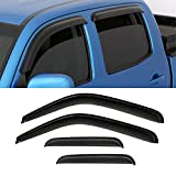 VIOJI 4pcs Dark Smoke Outside Mount Style Sun Rain Guard Vent Shade Window Visors Fit 99-04 Jeep Grand Cherokee All Models