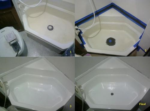 Rust Oleum 7860519 Tub And Tile Refinishing 2 Part Kit White Spray Paints