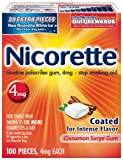 Nicorette Cinnamon Surge 100ct 4mg Packages