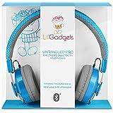 LilGadgets Untangled Pro Children's Wireless Bluetooth Headphones with SharePort (Blue)