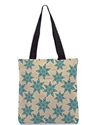 Snoogg Colorful Floral Seamless Pattern In Cartoon Style Seamless Pattern Designer Poly Canvas Tote Bag - B012FUGT2U