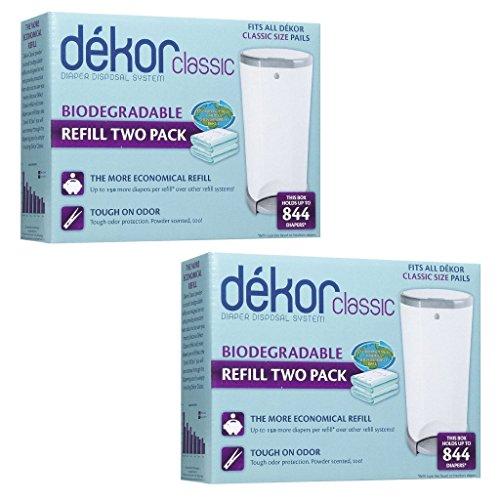 Diaper Dekor Refills - Biodegradable (4 Pack) - Regular(Classic) - 1
