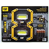 CAT LED Work Lights 500 Lumens, Rugged, Magnetic, Rotating Handle - 2 Pack (Tamaño: 2 Pack)