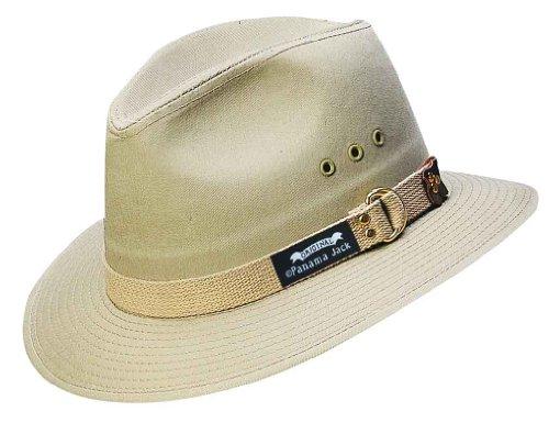 Panama Jack Men's Canvas Safari Sun Hat (Khaki, Medium) (Panama Jacks compare prices)