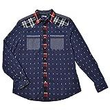 大きいサイズ メンズ デシグアル デザインシャツ 3L 68ネイビー