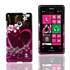 For T-Mobile Nokia Lumia 521 Windows Phone 8 Hard Snap-on Case Cover Purple Love