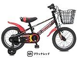 ビスマーク 16インチ ブラックレッド 補助輪付き 組み立て式 子供用自転車 幼児自転車