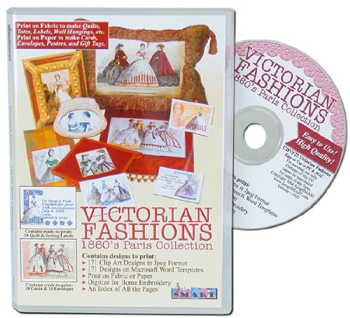 ScrapSMART -Victorian Fashions: 1860's Paris Software Collection- Jpeg & Microsoft Word Files (CDVF22)