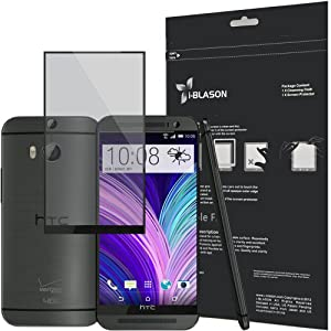 i-Blason All New HTC One M8 Screen Protector - HD Clear / Matte Bubble Free Reusable 2014 (AT&T, Verizon, Sprint, T-Mobile, All Carriers) (HTC One 2014, Black)
