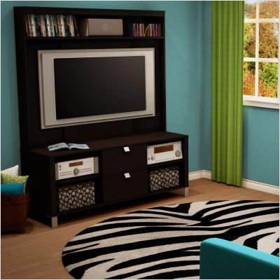Bundle-72 Cakao 60″ TV Stand & Hutch in Chocolate (8 Pieces) (B0051ZVGTI)