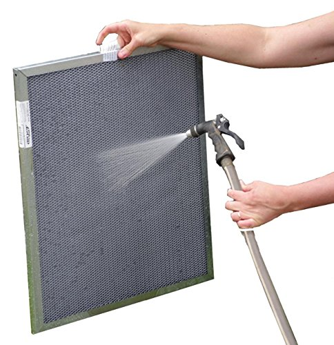 12x24x1 Electrostatic Washable Permanent A/C Furnace Air Filter - Reusable - Silver Frame - Lifetime Warranty (12 X 24 Washable Ac Filter compare prices)