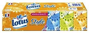 Lotus Compact Style - Mouchoirs Etuis x 18 Paquets - Lot de 3