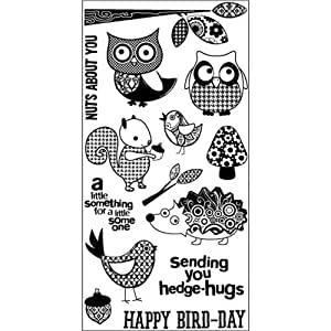 Hampton art patchwork pals rubber stamp for Rubber stamps arts and crafts