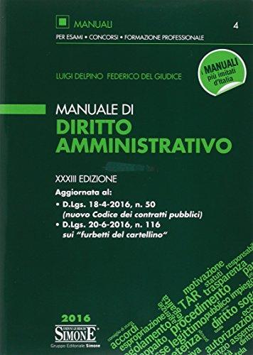 Manuale di diritto amministrativo. Con aggiornamento online