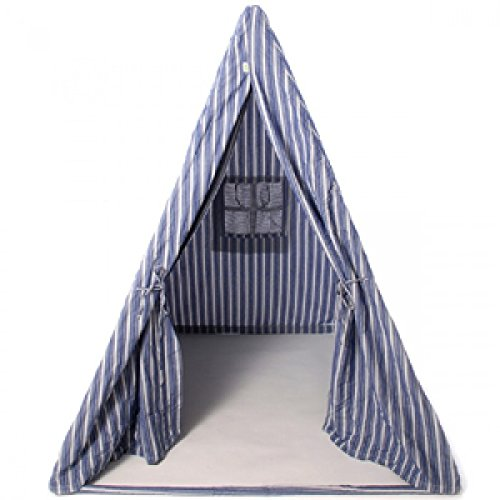 Win Green - Wigwam - Zelt - Blau Gestreift - Tent - Navy Multi-Stripe Wigwam