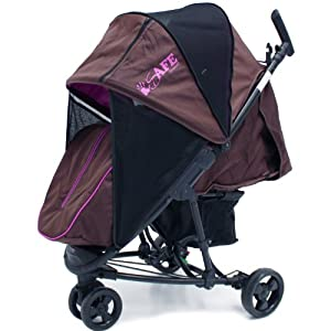 iSafe Visual 3 - Brown & Plum Complete With Bumper Bar And BootCover