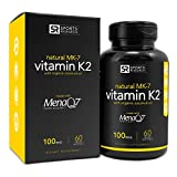 Vitamin K2 (as MK7) 100mcg with Coconut Oil for better absorption | Made with clinically proven MenaQ7 and Formulated without Soy or gluten ~ Non-GMO Verified, Vegan & Vegetarian safe.