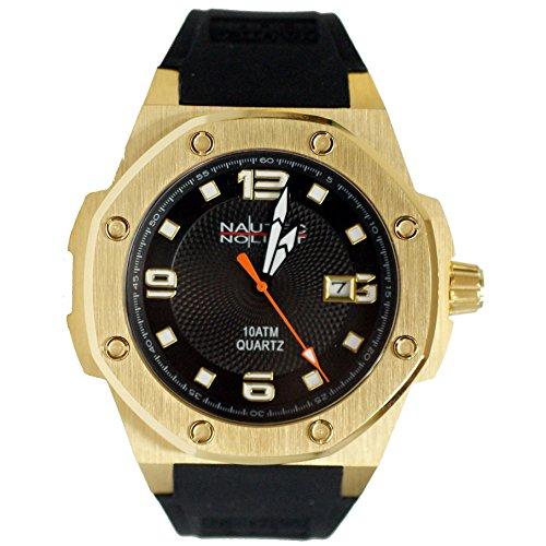 No limit Nautec hombre-reloj analógico de cuarzo de caucho Sailfish SF-QZ2-RBGDGDBK