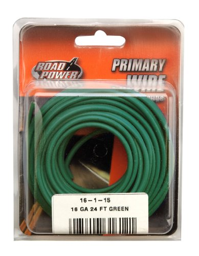 Coleman Cable 16-1-15 16-Gauge 24-Foot Automotive Copper Wire, Green