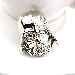 New Arrival Darth Vader Mask Helmet Dark Lord Sith Star War Classic Jewelry Brooch Pin For Men And Women Wholesale