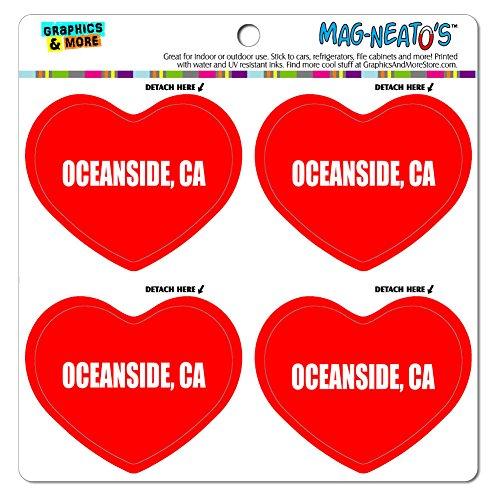 MAG-NEATO'S(TM) Car Refrigerator Vinyl Magnet Set I Love Heart City State O-R - Oceanside CA (Oceanside Ca compare prices)
