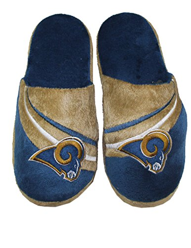Nfl St. Louis Rams Mens Lounge / House Slippers With Embroidered Logo S Blue