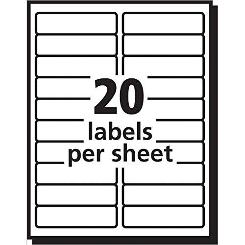 Faciles à décoller-Étiquettes d'expédition pour impression Laser, 1 x 4 Transparent/Lot de 200