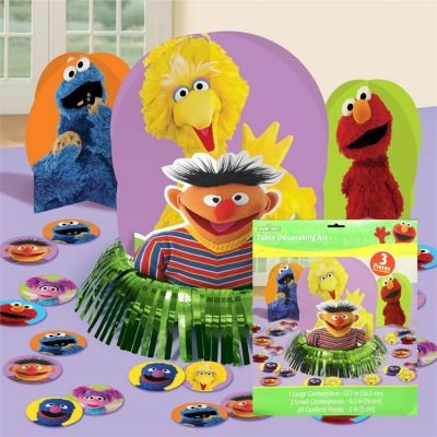 Amscan Sesame Street Table Decorating Kit, Multicolor