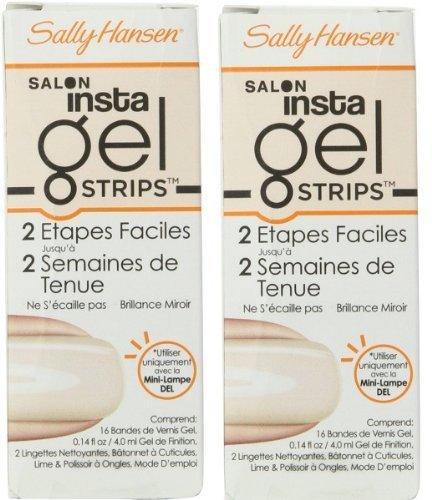 (Pack Of 2) Sally Hansen Salon Insta Gel Strips,Sheer Ecstasy , 16 Polish Strips