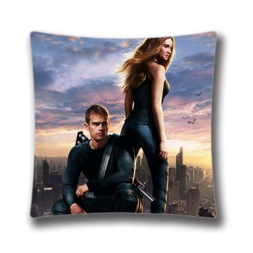"""Pop Home Home Decor Cotton & Polyester Throw Pillow Cushion Covers Bed and Couch Divergent Room Pillowcase 18"""" x 18"""" Inch (45x45 Cm)"""