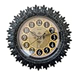 Steven Quartz Designer Wall Clock 1212 ROUND Shaped (BLACK) and one KIDs watch Free