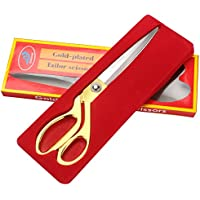 Premium Stainless Steel Sewing / Tailoring Scissor, (Golden)