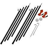 Vango Adjustbale Steel King Poles (Set of 2) - Black, 180 - 220 cm