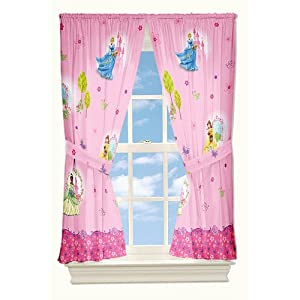 Disney Princess Summer Breeze Microfiber Window Drapes from Jay Franco