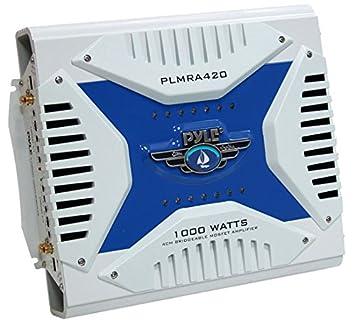 Amplificateur Pyle étanche avec 4 canaux et une puissance de 1000 Watts. Amplificateur MOSFET pontable - Idéal pour bateau, scooter de mer etc.