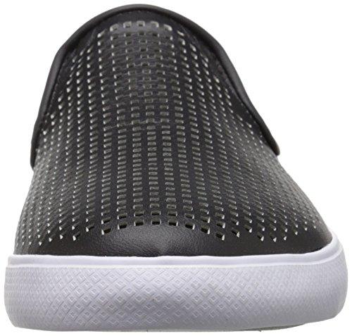 Lacoste Women's Cherre 216 1 Flat, Black/Natural, 6.5 M US