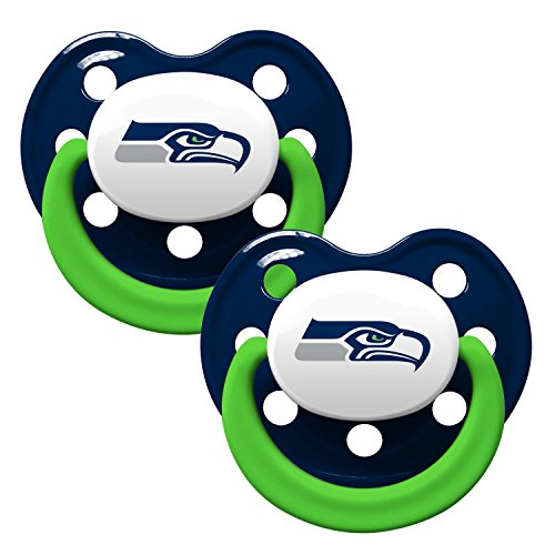 Seattle Seahawks 2-Tone Infant Pacifier 2-pack Set - 2015 NFL Baby Pacifiers