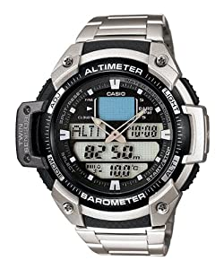 Casio Mens Twin Sensor Altimeter Barometer Analog-digital Sport Watch
