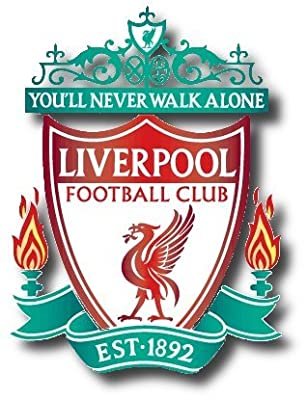"""(2) X Liverpool F.c. Wall Sticker Logo 9""""x10"""""""