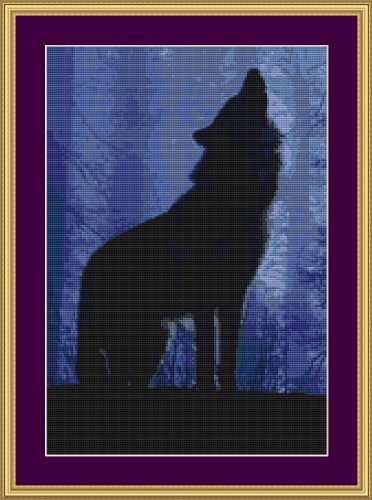Cross Stitch Chart / Pattern (Stickvorlage / Muster) - HOWLING [ PDF on a CD ] (PDF auf einer CD)