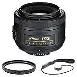 Nikon 35mm f 1.8G AF-S DX Lens for Nikon Digital SLR Cameras 2183 with 52mm Multicoated UV Protective Filter