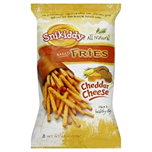 Snikiddy Snacks Cheddar Cheese Fries 4.5 oz. (Pack of 12)