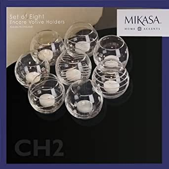 amazoncom mikasa set of 8 encore votive holders With kitchen colors with white cabinets with mikasa votive candle holders