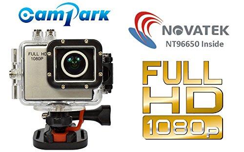 Campark Super Sport DV Waterproof Full HD 1080p vidéo HD Appareil photo Caméscope avec 12 mégapixels action came avec grand angle de 160 degrés