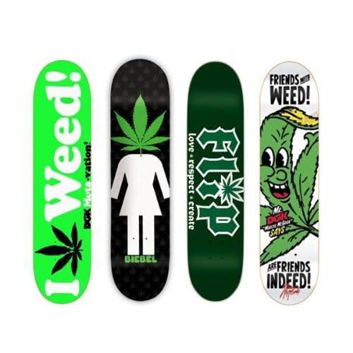 Amazon.com  4 DGK Girl Flip Weed 420 8.0 Skateboard Deck ...