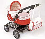 Silver Cross Ranger Dolls Pram with Matching Bag (Domino Red Fabric)